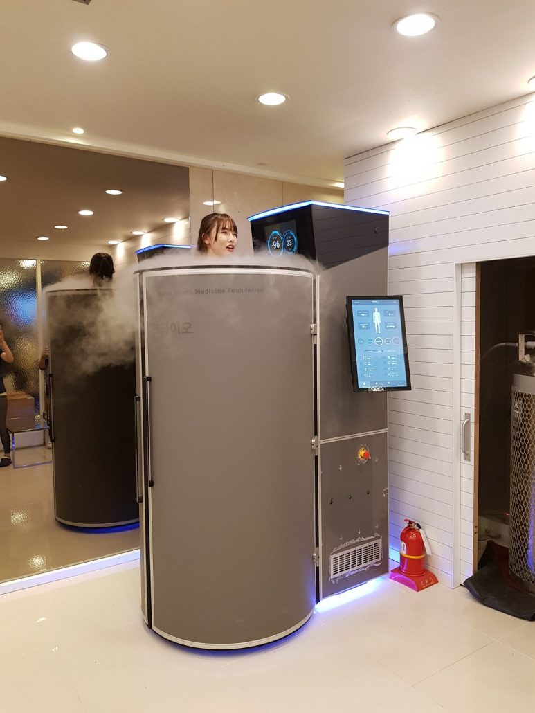 Cryotherapy device in South Korea